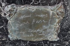 """Transcending"": Bronze Plaque on Granite, Hart Plaza--Detroit MI (pinehurst19475) Tags: city art bronze artist michigan labor detroit boulder granite riverfront sculptor laborhistory hartplaza outdoorart transcending labormovement sculpturalrelief artinpublicspaces davidbarr detroit300 sergiodegiusti"