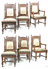 5. Set of (12) Renaissance Revival Dining Chairs