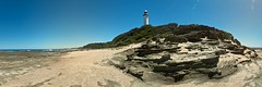 Land's End (Torkn2U) Tags: ocean panorama lighthouse beach pano norahhead