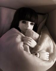 Please, let me sleep a little longer! (ShanouElise) Tags: girl bed bedroom eyes doll dolls sleepy wig cuddle bjd asleep custom cosy ae balljointeddoll eidolon balljointeddolls