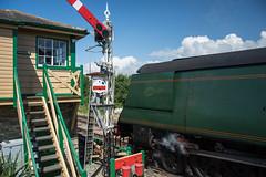 Harmans Cross Station 14 (Matt_Rayner) Tags: swanage railway 34070 manston sr battle of britain class steam train