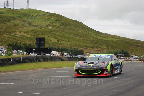 Tom Wrigley in the Ginetta GT4 Supercup at the BTCC Knockhill Weekend 2016