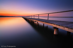 Sunset at Long Jetty (renatonovi1) Tags: sunset jetty lake longjetty centralcoast nsw longexposure landscape tranquilscene pier tugerrahlake