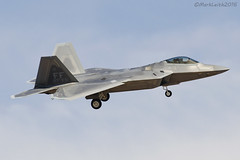 United States Air Force, Lockheed Martin F22A Raptor, 09-4172 / FF 27th FS. (M. Leith Photography) Tags: lasvegasnellisafbklsv nevada usa25thjuly2016 unitedstatesairforce lockheedmartinf22araptor 094172ff27thfs markleithphotography usaf usa american america fast jet aviation plane military d7000 300mmf4 nikkor