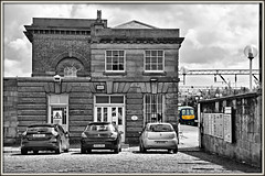 Popping the 19th C. (david.hayes77) Tags: liverpool merseyside selectivedesat mono class319 2016 northern emu edgehill 1836 architecture victorian cobbledroad 1f05