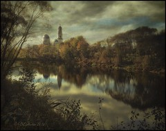 Monastery of the Dormition. (odinvadim) Tags: landscape iphoneonly evening clouds iphoneart iphoneography painterly church painterlymobileart sunset enteredinsyb iphone old pond forest instapickskyart travel textured editmaster textures