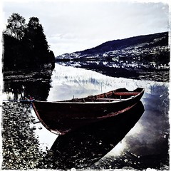 Fortyd bt -|- The rowboat (erlingsi) Tags: erlingsi iphone robt hipstamatic rotevatn volda lake sunnmre rowboat
