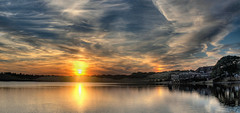 Sundog Sunset (Bits n Bobs) Tags: sundog olympus omd em10 sunset sun water pool suttonpark hdr