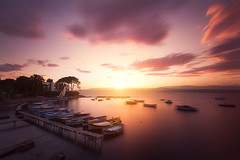 Summer sunset on Riviera (jeanjoaquim) Tags: harbor antibes sunset riviera portdelolivette