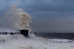 the big one (Nige H (Thanks for 20m views)) Tags: sea waves storm porthcawl wales landscape seascape lighthouse quay summer summerstorm