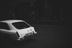 (jean_pichot1) Tags: ricoh light bw exit passing contrast black white car street shadow dark andralnggatan gothenburg