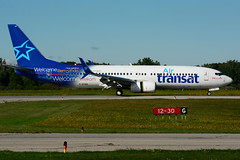 C-GTQG (Air Transat) (Steelhead 2010) Tags: airtransat boeing b737 b737800 yhm creg cgtqg