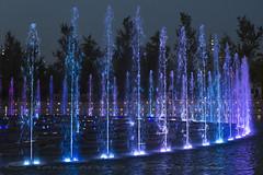 Fontane@Albero della Vita (Giancarlo Bruss) Tags: alberodellavita experience milano treeoflife water acqua blu blue viola