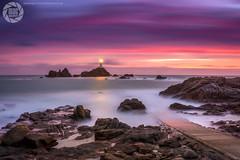 Corbiere Lighthouse - Jersey - Explore #290 (MAC-Photography.co.uk) Tags: jersey stbrelades lighthouse sunset sea rocks longexposure corbiere