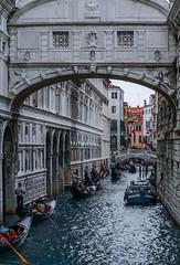 Bridge of Sighs (rae_johnson) Tags: gondola italy venice bridgeofsighs canal gondolier masks