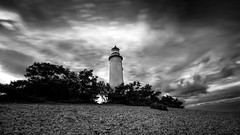 Lighthouse (JH') Tags: nikon nikond5300 nature d5300 landscape longexposure exposure summer sky sigma sweden clouds heaven 1020 2016 rocks lighthouse blackandwhite bw trees coast