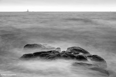 Rocks (- Man from the North -) Tags: blackandwhite monochrome bw longexposure slowshutter finland kaskinen westcoast water sky lighthouse rocks windy waves nikond500 nikon d500 tamron1750f28 seascape wideangle gulfofbothnia