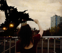 Draw You the Night (Aims_Elizabeth) Tags: draw night paint ink permanent photography edit fantasy bridge beautiful sky coventry
