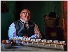 The Butler (Hugh Stanton) Tags: servant butler tea table basket tie collar specticles
