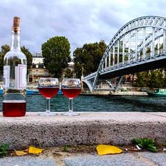 Pick Nick in Paris (majdblock) Tags: river mobilephotography urbanism wine ros gris vin dailylife lifestyle frenchlifestyle seineriver relax bridge paris riverbank seinebanks travel wanderlust