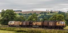 3205_2016_07_16_Haunetal_Neukirchen_DB_218_105_mit_Schweerbau_SBAU_9427_002_RG_48_II_Schienenschleifer_DGV_91542_Be (ruhrpott.sprinter) Tags: ruhrpott sprinter deutschland germany nrw ruhrgebiet gelsenkirchen lokomotive locomotives eisenbahn railroad zug train rail reisezug passenger gter cargo freight fret diesel ellok hessen haunetal boxxboxxpress db egp ell hhla hsl hvle lbllocon metrans mrcedispolokdispo bb railpoolrpool rbh rhc schweerbau sbbc txltxlogistik wienerlokalbahnencargo 143 145 152 182 185 193 218 270 428 650 1264 1266 421 es64u2 es64f4 greencargo ice r5 outdoor logo natur sonnenaufgang graffiti rinder