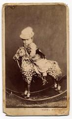 Karel Kudrn, Jarom - Rocking Horse Rider (josefnovak33) Tags: horse cdv rocking rider karel jarom kudrn