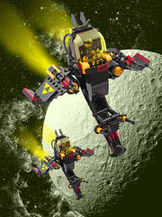 Blacktron Patrol (halfbeak) Tags: lego patrol tethys starfighter blacktron spacescene
