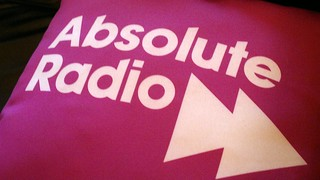 Absolute Radio branded cushion