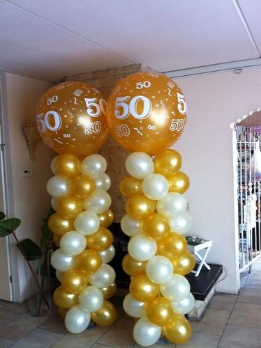 Ballonpilaar Breed Rond 50 Jaar