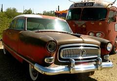 old Nash auto (redrock flyer) Tags: arizona rust classiccar rusty rusted oxidation nash oldcar oxidized newriveraz