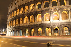 Colosseum Lights (ThisisNadia) Tags: longexposure italy rome roma history night lights bright ngc colosseum lightphotography