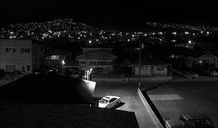 Kaimuki St Louis Heights and Wilhelmina Rise at night (Guy: Jussum Guy) Tags: blackandwhite mountains night hawaii oahu honolulu palolovalley kaimuki stlouisheights wilhelminarise panasonicdmczs3