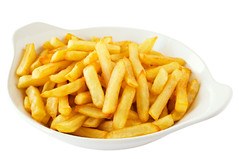 French Fries (Phils Grill) Tags: food white potatoes frenchfries chips fries snack fried isolated deepfried fattening clippingpath isolatedonwhite