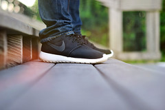 Roshe Run (N. Maung) Tags: shoe 50mm nikon bokeh f14 running run nike jeans sneaker 2012 roshe d7000 nmaung
