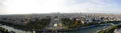 Paris View Panorama (Tabitha Beresford-Webb) Tags: from city blue sky panorama paris france tower river nikon view eiffel sienne d3100