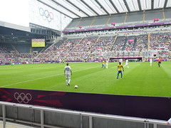 Olympic football London 2012 St James Park Newcastle Upon Tyne 01 Aug 2012 .   Brazil go on to win 3 . 0 advancing to a quarter final against Honduras on 04 th August  . (Le monde d'aujourd'hui) Tags: park brazil 3 london against st newcastle james football 04 go honduras tyne final 01 quarter win olympic aug th upon 2012 advancing