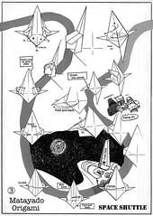 Space Shuttle origami diagram 3 (Shu Sugamata) Tags: 2001 startrek airplane origami space diagram shuttle orion vehicle spaceship enterprise starship sugamata matayado