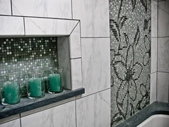 Quiet Retreat Custom Mosaic  Artaic (Artaic) Tags: tile bathroom mural mosaic spa mosaictile tiledesign