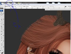 WIP:  Hair drawing with mouse?! (   (sorta not here..? >_> )) Tags: photoshop raw workinprogress wip sl secondlife pileup