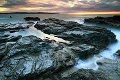 Godrevy After Sunset (midlander1231) Tags: longexposure sunset sea england sky seascape nature water clouds landscape coast rocks cornwall godrevy hayle westcornwall