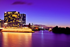 Hyatt Dsseldorf Blue Hour (_flowtation) Tags: longexposure blue light reflection water colors reflections river germany deutschland lights licht nikon wasser day nacht clear fernsehturm nightshots vodafone bluehour blau hafen dsseldorf rhine rhein spiegelung duesseldorf tvtower lichter nighthawks televisiontower langzeitbelichtung rheinturm medienhafen blauestunde rheinriver mediaharbour rhinetower rheintower mediaharbor hayatthotel d5100 nikond5100 hayattdsseldorf