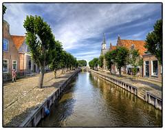 Stadsgezicht van Sloten Frl. (PortSite) Tags: holland church netherlands nikon nederland kirchen glise paysbas kerk hdr friesland architectuur portsite d3s