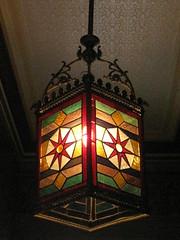 light red green history glass lamp yellow metal... (Photo: raaen99 on Flickr)