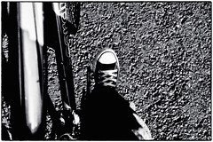 My Taxi broke down last night. So after leaving it in the garage today we cycled home, thank God it didn't rain..... (popp1973) Tags: bike converse chucks