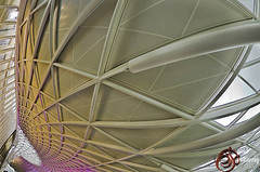 London King's Cross Concourse Architecture (david gutierrez [ www.davidgutierrez.co.uk ]) Tags: city uk travel light urban london public glass lines station k retail architecture train buildings underground design europe shadows bright image pentax 5 top steel interior space curves transport perspective railway structure ceiling fisheye colourful kingscross visitors stpancras glassroof circular concourse brickwork k5 vantagepoint redevelopment singlespan londonarchitecture londonkingscross davidgutierrez johnmcaslanandpartners pentaxk5 kingscrossconcourse skytreecolumns kingscrossconcoursearchitecture concoursearchitecture