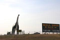 Wall Drug Dinosaur (the_mel) Tags: wall southdakota highway dinosaur billboard advertisement drug 90 i90 walldrug