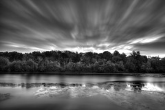 Roosevelt Island in the AM (dK.i photography) Tags: longexposure blackandwhite motion clouds island virginia washingtondc roosevelt canonef1740mmf4lusm cloudscape singleexposure neutraldensity 268seconds canon5dmkii bigstopper singhrayrgnd edwardkreis dkiphotography