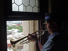Le trompettiste (blogspfastatt (+3.000.000 views)) Tags: musician music poland polska krakow cracow musique cracovie pologne trompette hejnal trumpett mygearandme