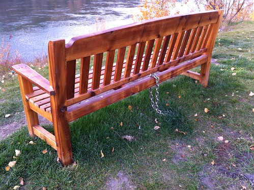 Just in case you were planning to steal the bench...