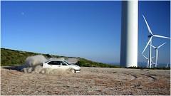 Derrapes de altura (Ana_Lobo) Tags: espaa canon eos seat coche motor crdoba zamora molinos trompo lubin parqueelico rfaga derrape 1000d